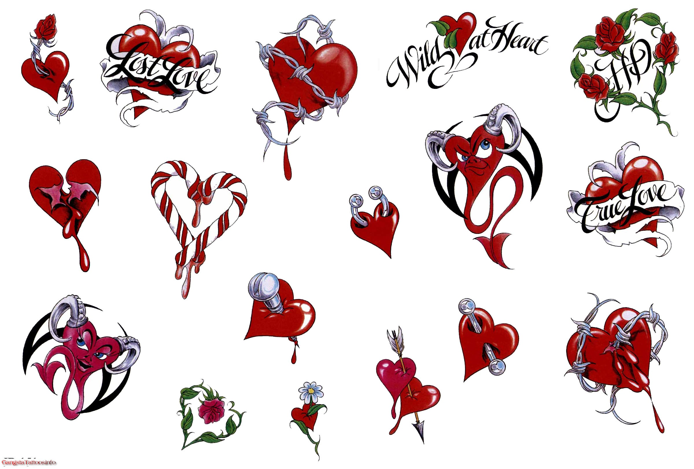 Heart tattoo designs foreverwallpapers for Heartbeat design